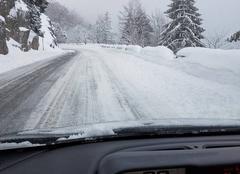 Neige Le Valtin 88230 Route enneigée