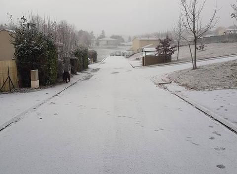 Neige à Angoulême