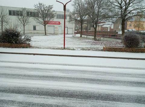 Neige à Hirson