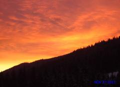 Ciel Mijoux 01410 Coucher de soleil sur les Monts Jura