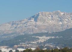Neige Beaurecueil 13100 Paysage Aixois ... La Sainte Victoire - Le Cengle
