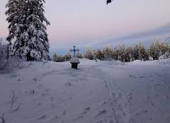 Neige La Chamba 42440 Promenade dominicale dans les bois du Haut Forez chambacien...