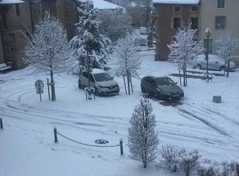 1ère neige à Beauzac