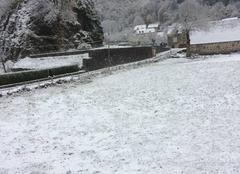 Neige Fontanges 15140 Jour de neige à Fontanges