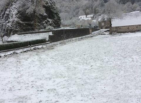 Jour de neige à Fontanges
