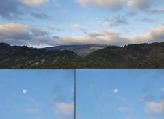 Ciel Luceram 06440 La lune ce matin