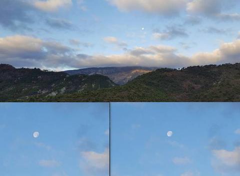 La lune ce matin