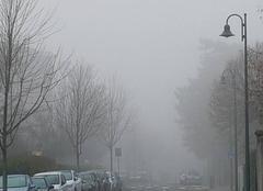 Brouillard Tassin-la-Demi-Lune 69160 Le brouillard arrive avant le soleil.