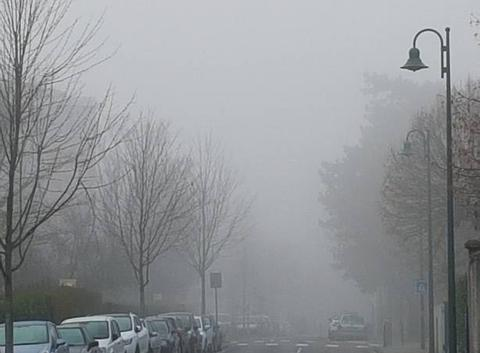 Le brouillard arrive avant le soleil.