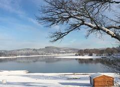 Neige Royere-de-Vassiviere 23460 Jolie neige sur le Lac de Vassivière
