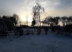 Neige Le Gue-de-la-Chaine 61130 Lever de soleil