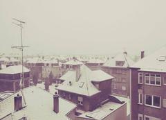 Neige Thionville 57100 Toits de Thionville sous la neige