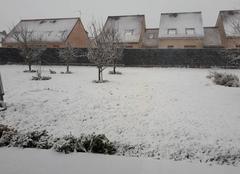 Neige Haisnes 62138 Jardin sous la neige