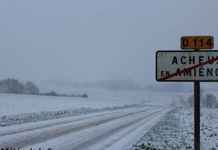 Ciel Acheux-en-Amienois 80560 Episode neigeux sur le Nord de la Somme ...