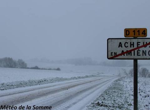 Episode neigeux sur le Nord de la Somme ...