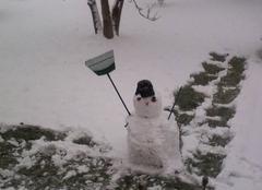 Neige Bogny-sur-Meuse 08120 Premier bonhomme de neige ardennais