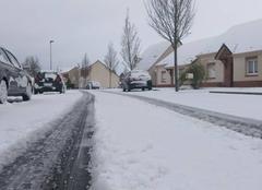 Neige Saint-Laurent-Blangy 62223 Quelques centimètres de neige