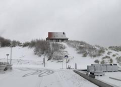 Neige La Panne Sneeuw an zee
