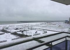 Neige Calais 62100 Neige à la plage