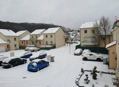 Neige sur Cocheren (10cm)
