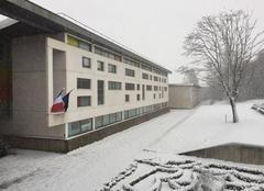 Neige Lumbres 62380 Collège Albert camus lumbres sous la neige