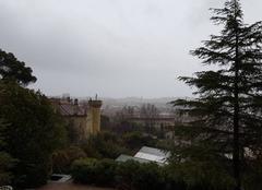Pluie Toulon 83100 Intempéries à l'est de toulon, vue sur Cap Brun
