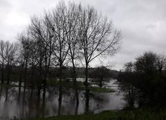Pluie Pont-Farcy 14380 Crue de la Vire