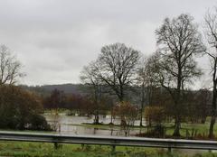 Pluie Aunay-sur-Odon 14260 L'Odon sort de son lit