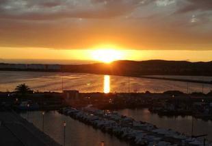 Ciel Frontignan 34110 Coucher de soleil vu de ma terrasse
