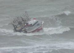 Mer Port-en-Bessin-Huppain 14520 Force 9 à 10 de nord-est