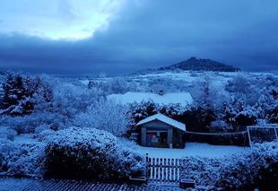 Neige Chanonat 63450 Altitude 800 m proche Clermont-Ferrand