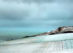 Neige Escalles 62179 La Cote d'Opale sous la neige