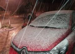 Neige Sarrewerden 67260 Un orage avec de la neige.