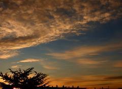 Ciel Niort 79000 Coucher de soleil de ce 12 décembre 2017