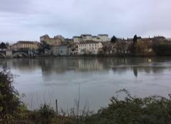 Pluie Romans-sur-Isere 26100 Pluie sur les quais d'Isère ☔️☔️