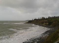 Tempête Saint-Pair-sur-Mer 50380 Vue de Granville depuis Saint Pair Sur Mer