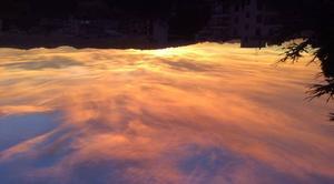 Ciel Antibes 06160 Coucher de soleil novembre