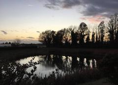 Ciel Mours-Saint-Eusebe 26540 Couleurs du couchant en campagne