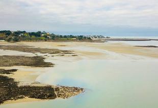 Mer Etables-sur-Mer 22680 Étables sur Mer depuis la plage des Godelins Grandes marées