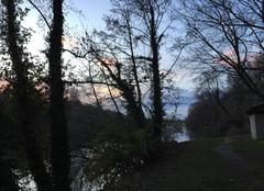 Ciel Romans-sur-Isere 26100 Berges de l'Isère aux couleurs du crépuscule