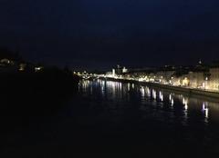Pluie Romans-sur-Isere 26100 Pluie sur les quais d'Isère