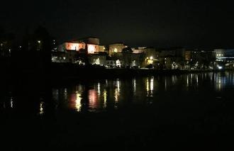 Insolite Romans-sur-Isere 26100 Quais péageois de nuit