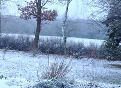 Nuages Sulignat 01400 Neige ce 17 décembre 2017 à l'ouest de Sulignat