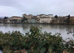 Nuages Romans-sur-Isere 26100 Au fil de l'eau, les bords d'Isère ce matin