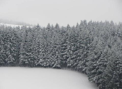 Il a encore neigé cette nuit !