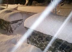 Neige Saint-Genes-Champanelle 63122 Neige collante ce matin sur les Dômes