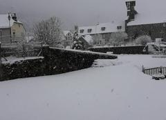 Neige Saint-Martin-sous-Vigouroux 15230 Neige cantalienne