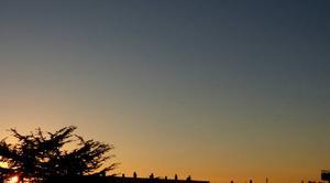 Ciel Niort 79000 Coucher de soleil de ce 18 décembre 2017