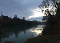 Ciel Romans-sur-Isere 26100 Soleil couchant sur l'Isère