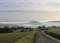 Ciel Bonnemaison 14260 Brouillard sur la vallée de l'Orne